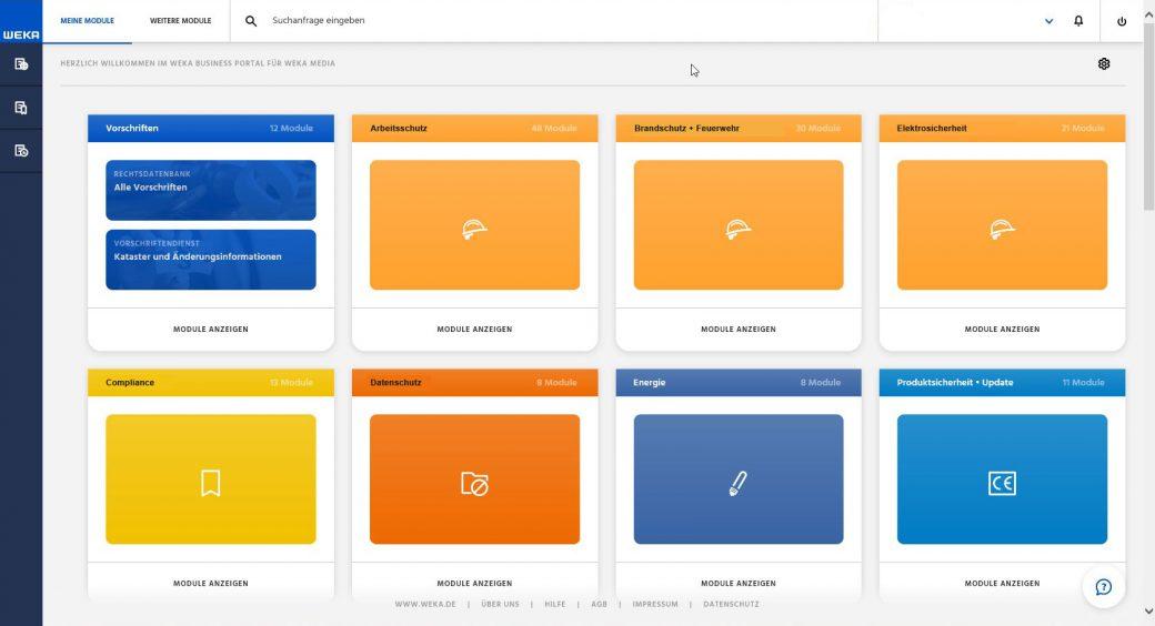 WEKA Business Portal Startseite